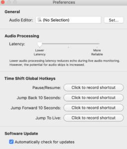 Configuración Audio Hijack